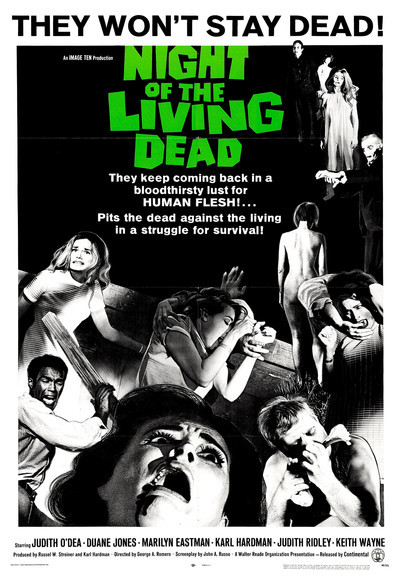 The poster for Night of the Living Dead (1968).
