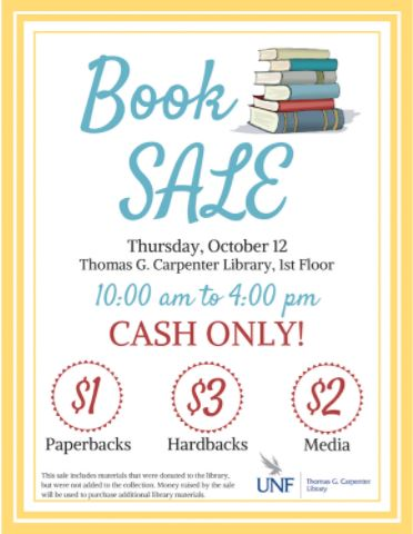 Library hosting book sale, all items under $5