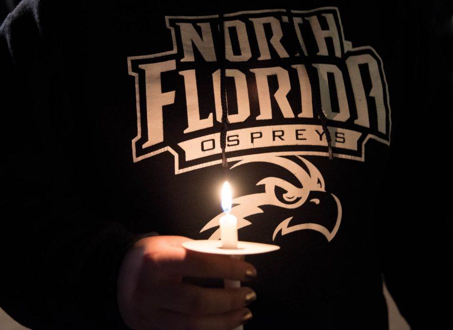 Candle light vigil. Lili Weinstein