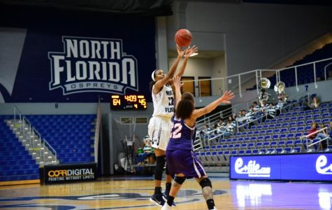UNF Ospreys beat their across town foe Edward Waters College on the second day of the UNF Holiday Classic. Photo by Joslyn Simmons