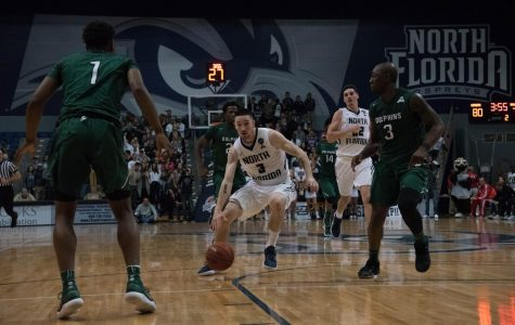 Men's basketball falls in a physical River City Rumble