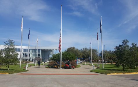Why is the flag at UNF half-staff?