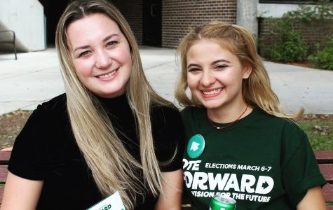 Jenna DuPilka and Maria Bermudez, the Presidential and Vice Presidential Candidates of the Forward Party