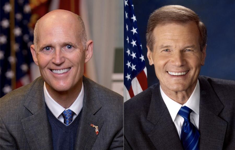 Gov. Rick Scott (left) Sen. Bill Nelson (right) Photo courtesy Creative Commons