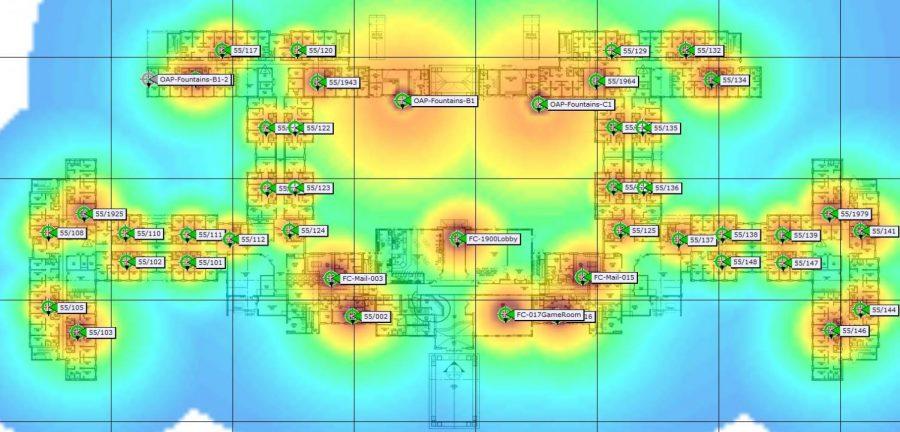 Fountains hot spot map. UNF.