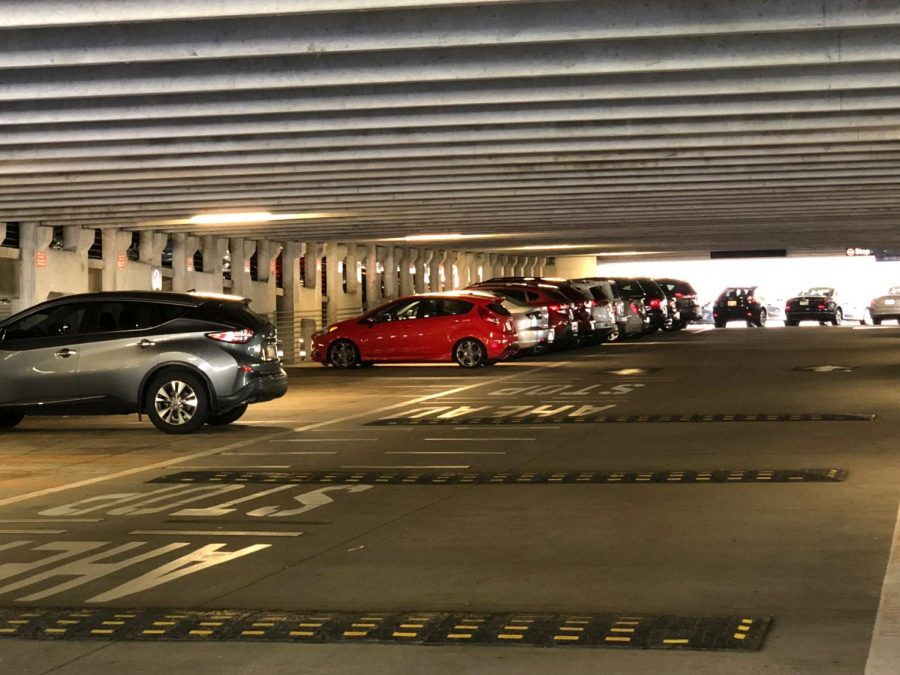 Reserved parking in Arena Garage