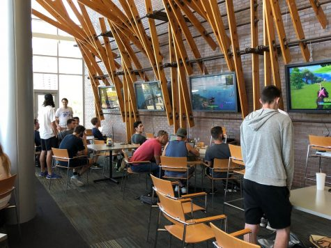 Students taking part of the  Fortnight Tournament at the Boathouse.