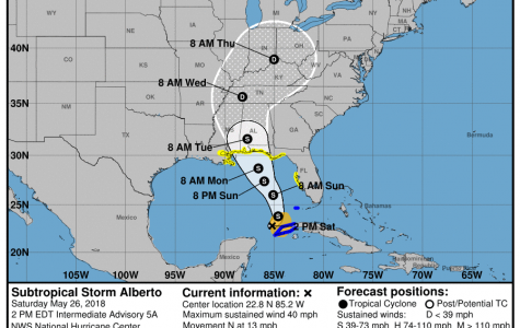 Florida under State of Emergency due to Storm Alberto