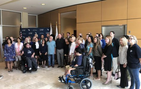 The Alumni Association hosted a send off to celebrate President John Delaney's term at UNF.