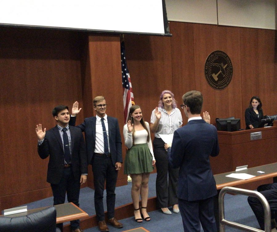 The new Attorney General, Treasurer, Student Advocate and Elections Commissioner have been confirmed by the Senate.