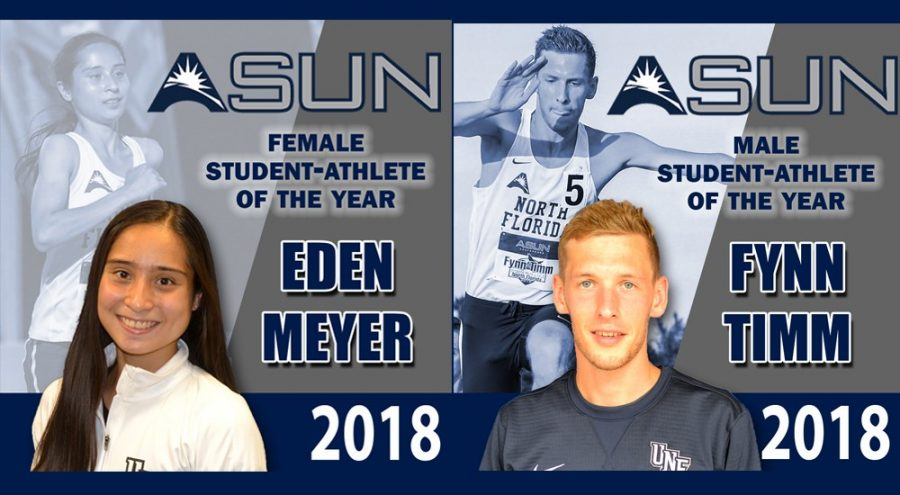 Fynn Timm and Eden Meyer named ASUN Student-Athletes of the Year