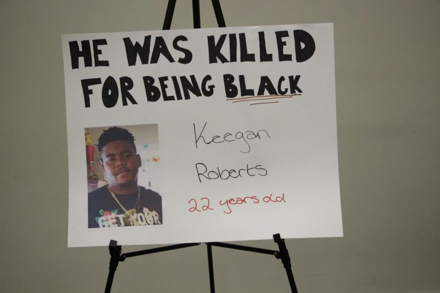 Poster of Keegan Roberts, 22 who was a victim of gun violence.
