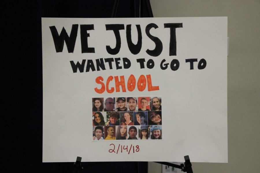 Poster of the victims from the school shooting at Stoneman Douglas.