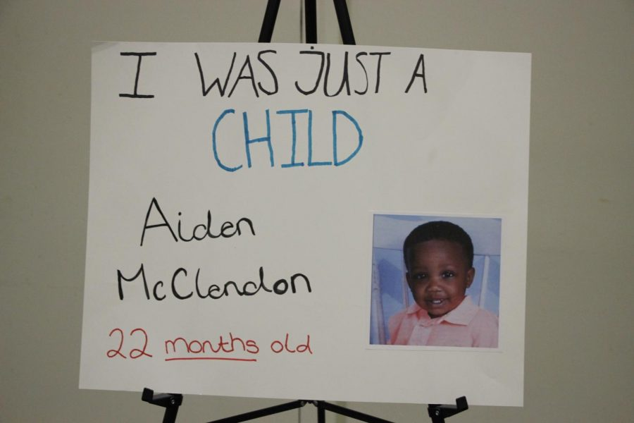Aiden McClendon of just 22 months who fell victim to gun violence.