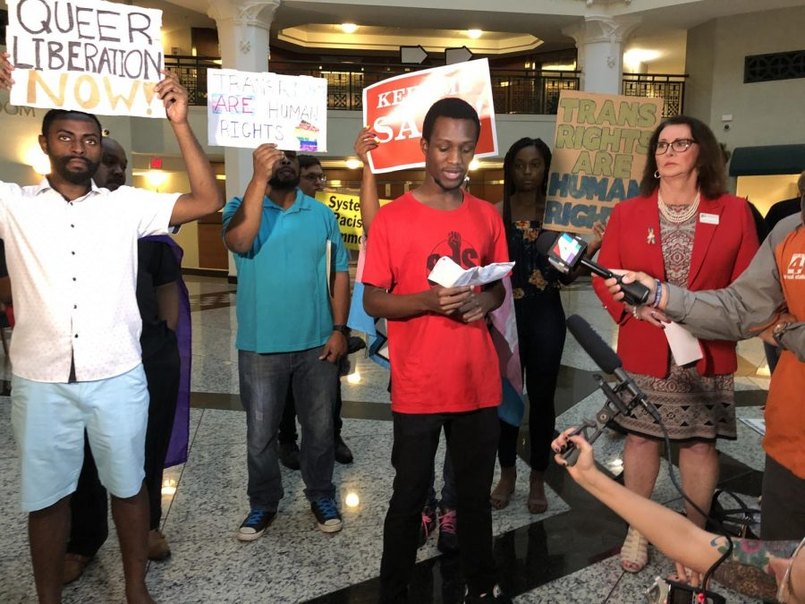 Members of the UNF's Students of a Democratic Society was at Jacksonville City Hall Tuesday night expressing their concerns to city leaders.
