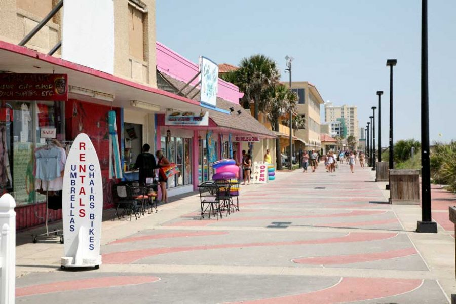 The boardwalk of Jacksonville Beach. Photo courtesy of Inside Florida.