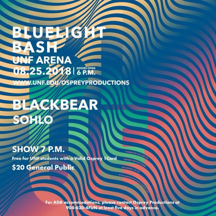 Osprey Production's flyer for the Bluelight Bash