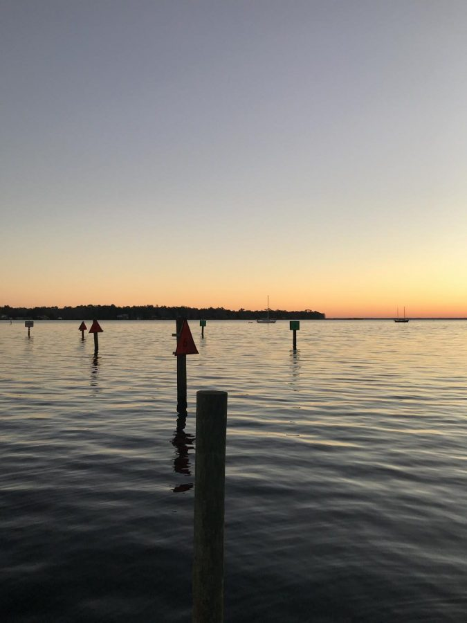 The St. Johns River at sunset.
