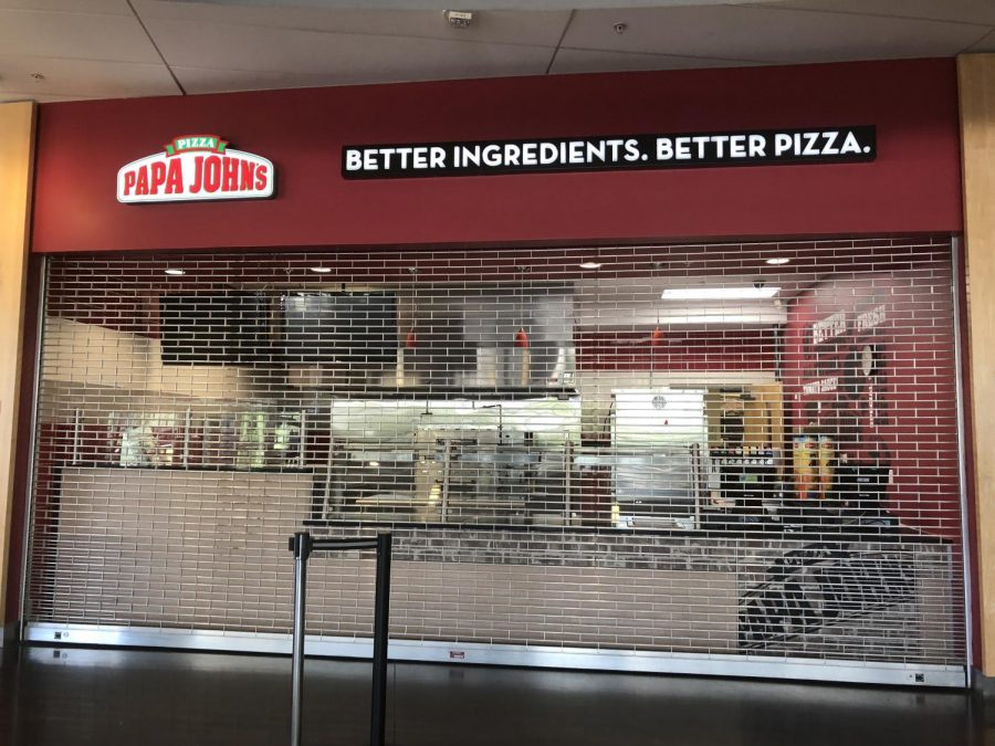 Papa John's in the John A. Delaney Student Union.