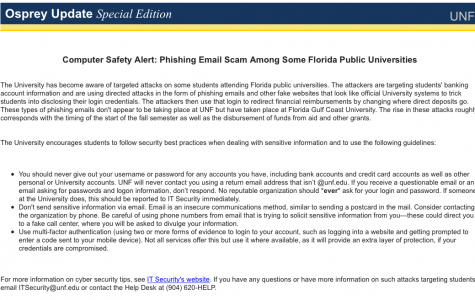 Phishing email scam targets Florida college students