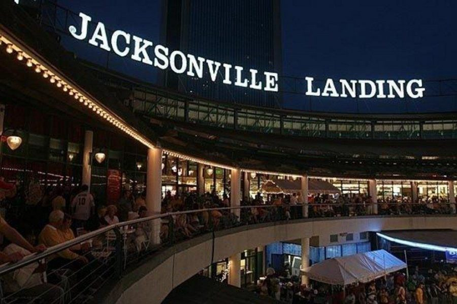 Mavericks is located at the Jacksonville Landing in downtown.