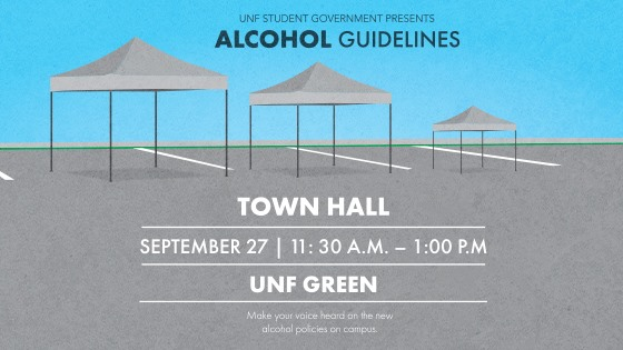 Student Government to hold a Town Hall meeting regarding the new alcohol policies