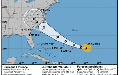 Hurricane Florence now a Category 4 hurricane