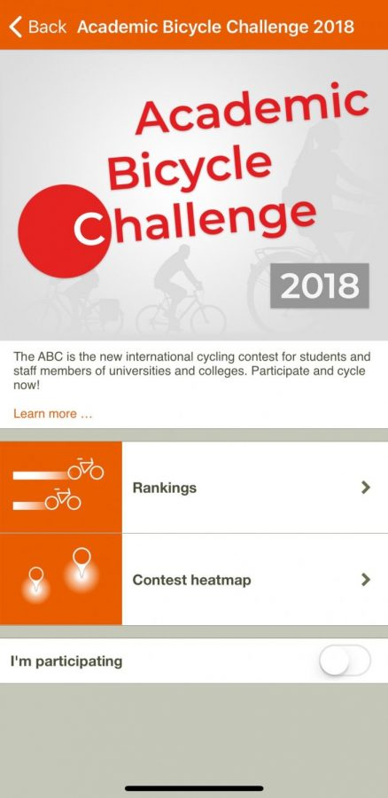 The Academic Bicycle Challenge is available in the Naviki app.