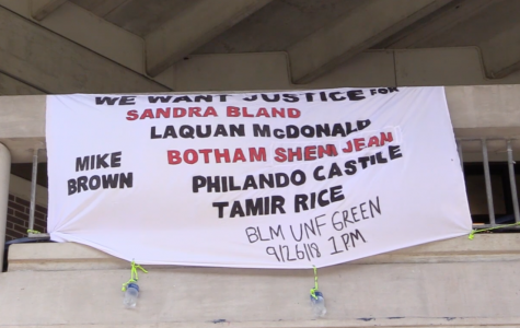 UNF SDS drops banner recognizing victims of police brutality