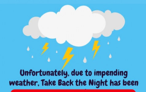"""Take Back the Night"" postponed due to Hurricane Michael"