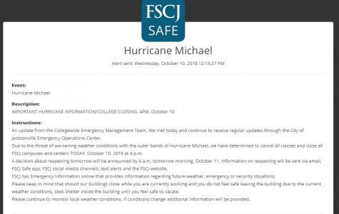 FSCJ will be closing the college and canceling all classes. Courtesy of FSCJ.