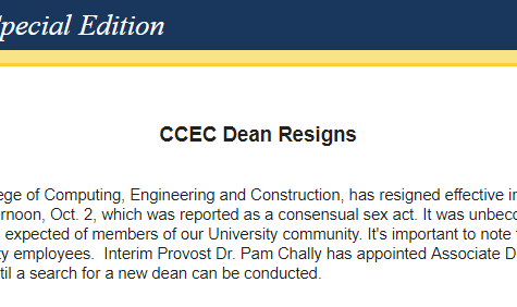 """UNF dean resigns after reportedly engaging in a """"consensual sex act"""" on campus"""