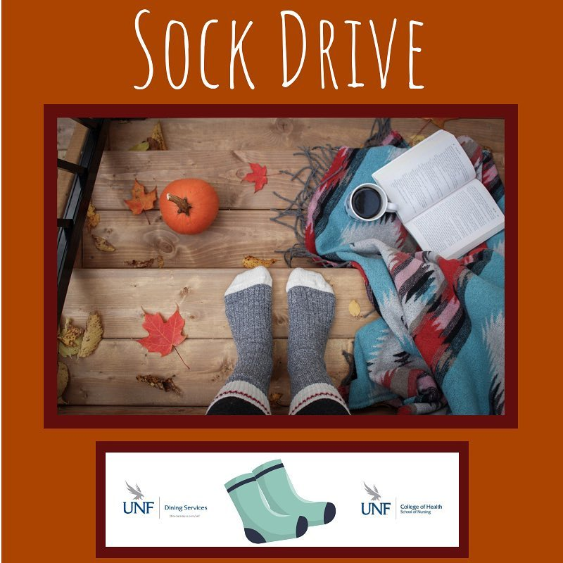 Keeping toes warm: College of Nursing and Dining Services collect socks for Jacksonville's homeless community