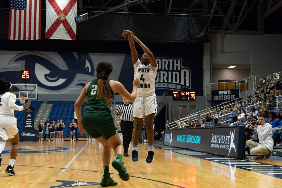 Women's Basketball vs. Jacksonville University 2019 4	Adrienne Jackson