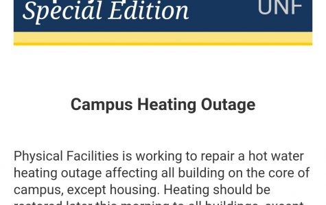 Heating outage on campus
