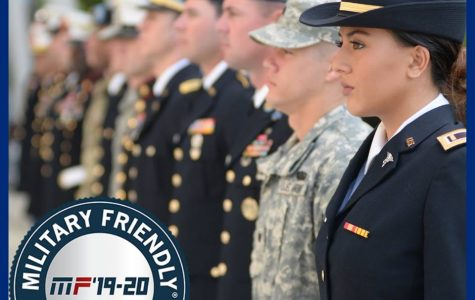 UNF is distinguished as a Military Friendly school for 10th year in a row