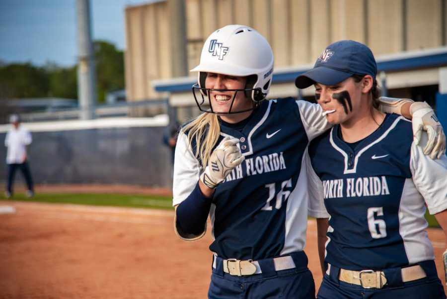 Softball vs. Georgia Southern University 2019  Dominca Cocuzza Veronika Klimplova