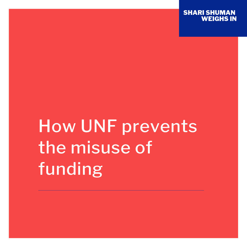 How UNF prevents misuse of funding