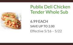 Publix Chicken Tender Subs on sale for a limited time