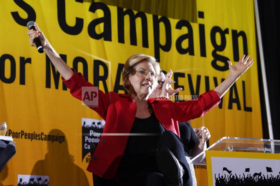 Photo of democratic presidential candidate Elizabeth Warren