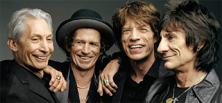 Picture of the band members of Rolling Stones