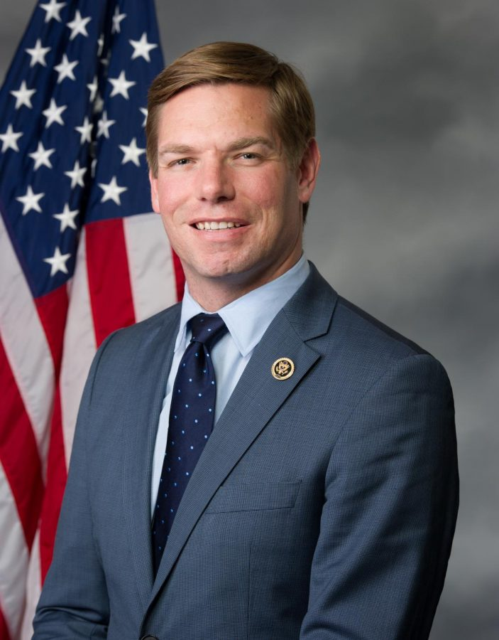 Photo of presidential candidate Eric Swalwell