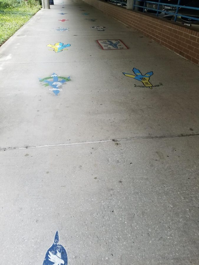 The mural walkway. Photo by Courtney Green.