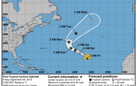 Storm systems behind Dorian