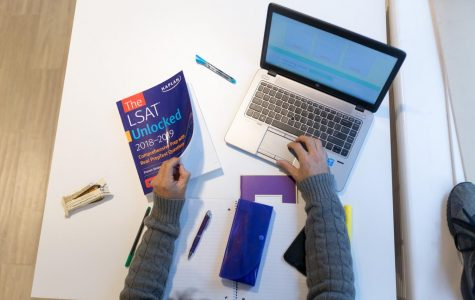 Individual studying for LSAT. Photo provided by Kaplan.