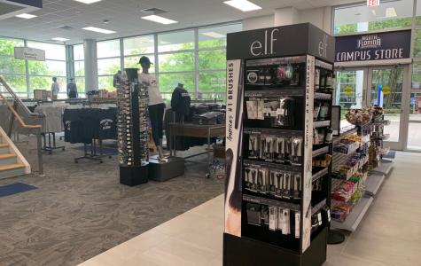 E.l.f cosmetics display in the UNF Bookstore. Photo by Jessica Volz.
