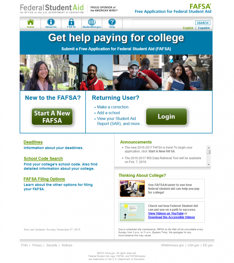 File quick! FAFSA is here!