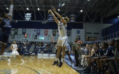 Ryan Burkhardt recorded eight points (two treys) in the 76-67 loss to Creighton.