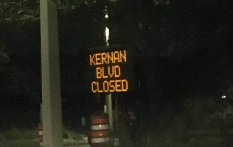 Kernan road closure sign. Photo credit Lili Weinstein.
