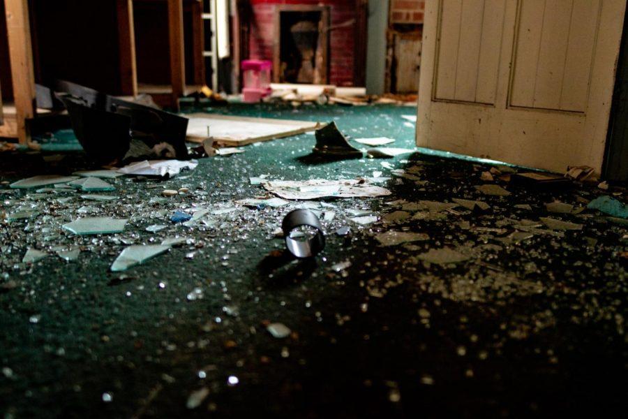 photo of broken glass on the floor
